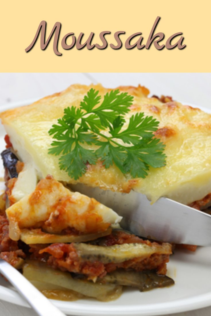 Here's a delicious tasting recipe for Moussaka - it's great for using eggplant when it's coming in from the garden.