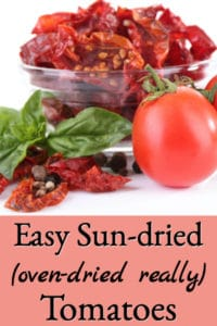 Homemade Sun Dried Tomatoes (oven dried really)