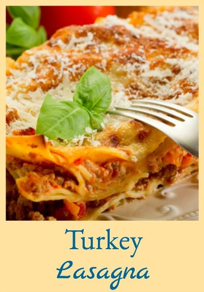 """This turkey lasagna is lighter in calories but just as tasty as """"normal"""" lasagna!"""