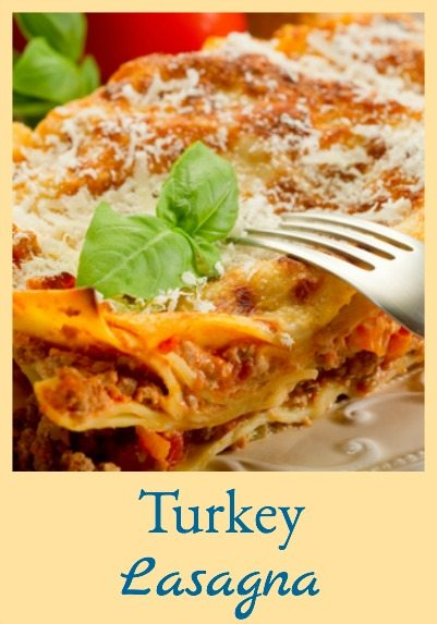 "This turkey lasagna is lighter in calories but just as tasty as ""normal"" lasagna!"