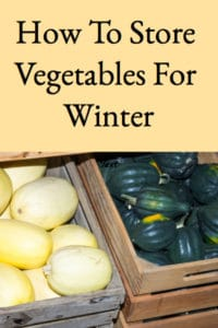 How To Store Vegetables For Winter