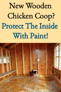 New Chicken Coop Paint Protection