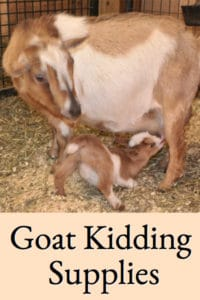 Goat Kidding Supplies
