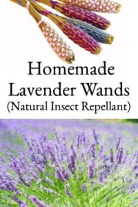 Homemade Lavender Wands (Natural Insect Repellant)