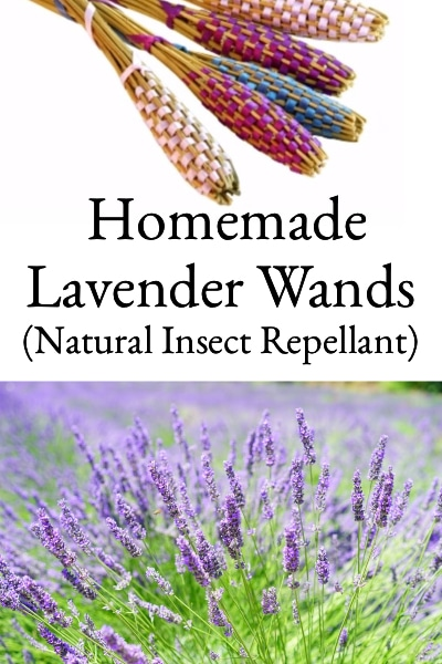 homemade lavender wands