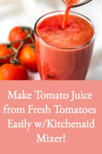 make tomato juice from fresh tomatoes easily