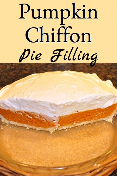 Pumpkin Chiffon Pie Filling