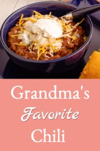 Grandma's Favorite Chili