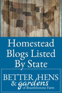 Homesteading Blogs Listed By State
