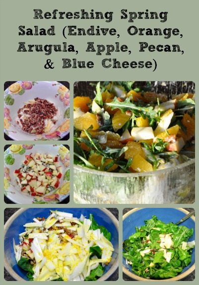 Refreshing Spring Salad Collage