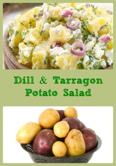 Dill & Tarragon Potato Salad Collage
