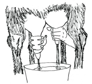 Goat Milking Illustration