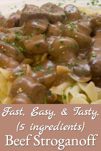 This beef stroganoff recipe is super easy and so tasty!