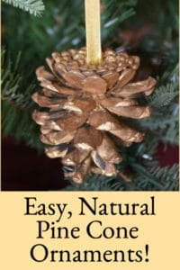 Easy DIY Natural Pine Cone Ornaments