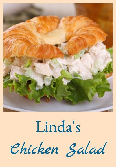 Linda's Chicken Salad can't be beat for a great basic chicken salad recipe - sometimes the simplest things can't be beat!