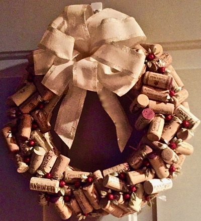 Wine Cork Wreath Finished
