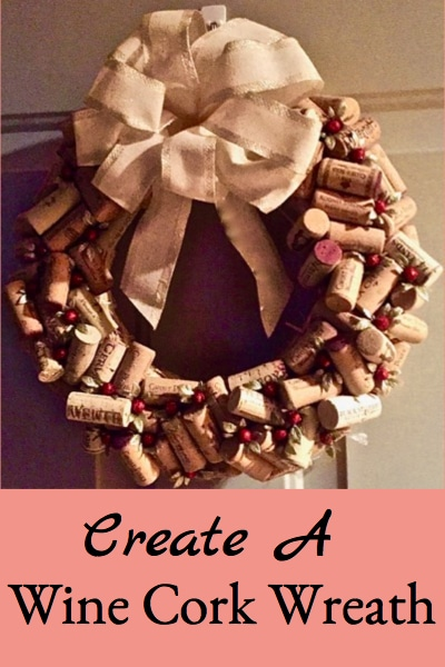 Create an easy holiday wine cork wreath