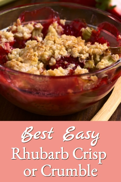 best easy rhubarb crisp or crumble recipe
