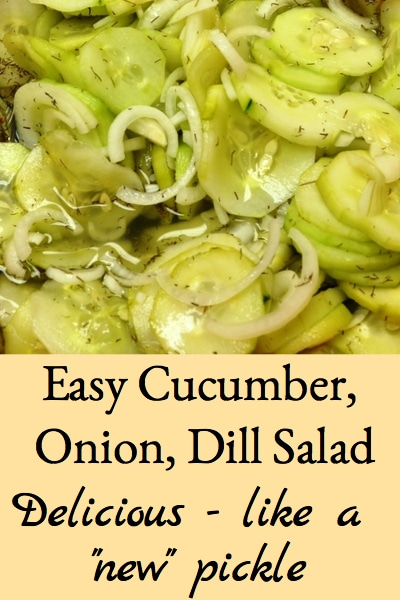 easy cucumber, onion, & dill salad
