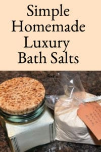 Easy Homemade Bath Salts Recipe