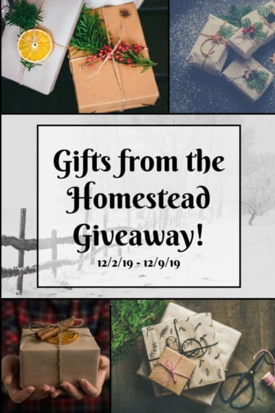 gifts from the homestead giveaway