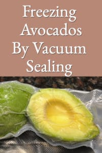 Freezing Avocados By Vacuum Sealing (Packing)