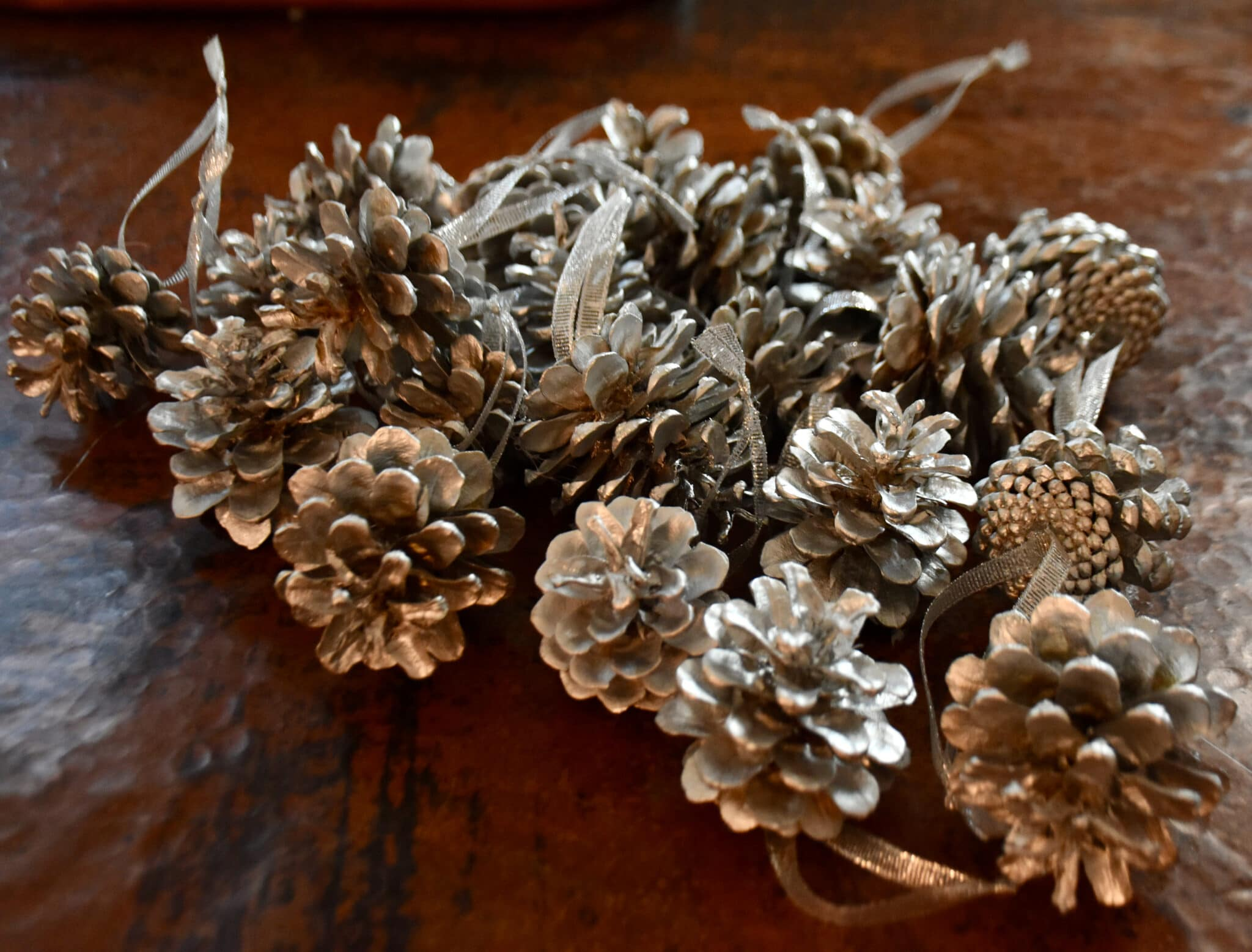 completed pine cones