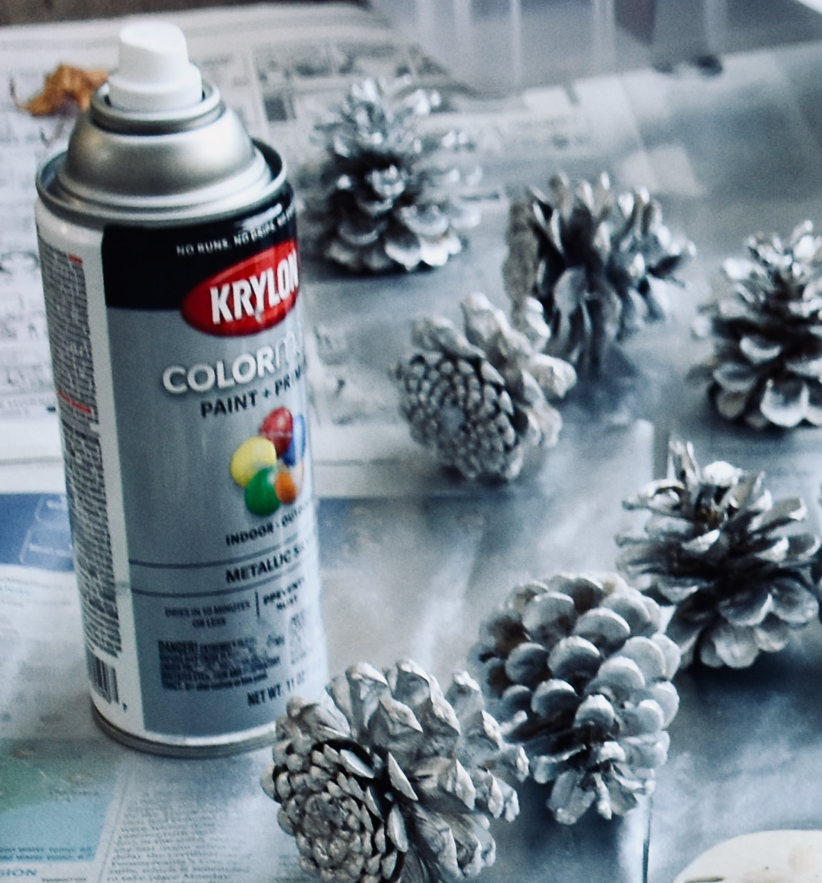 painting-pine-cone-ornaments