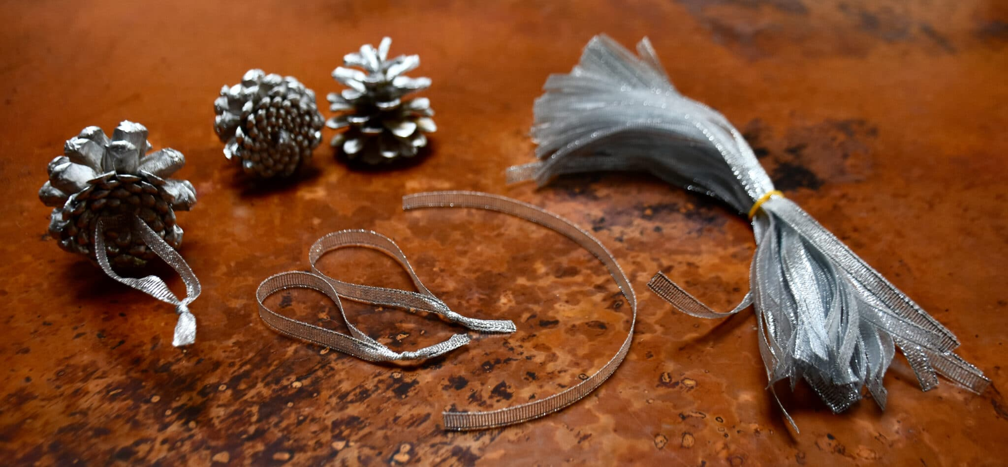 pine cone ornament assembly