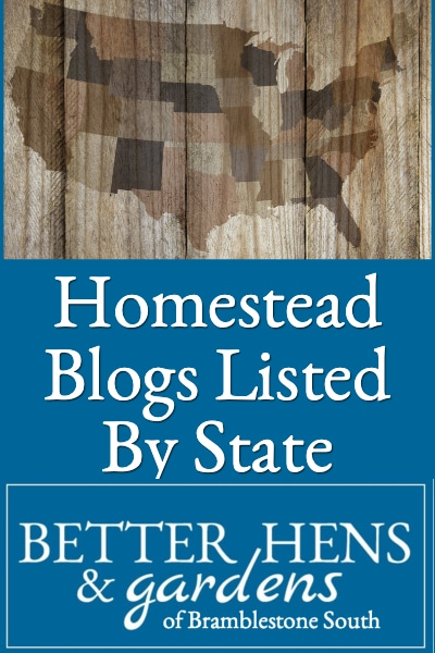Homestead Blogs Listed By State