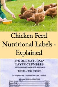 Chicken Feed Nutritional  Labels Explained