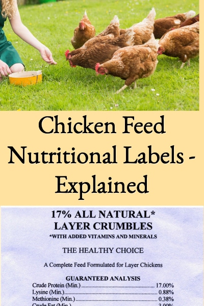 chicken feed nutritional labels