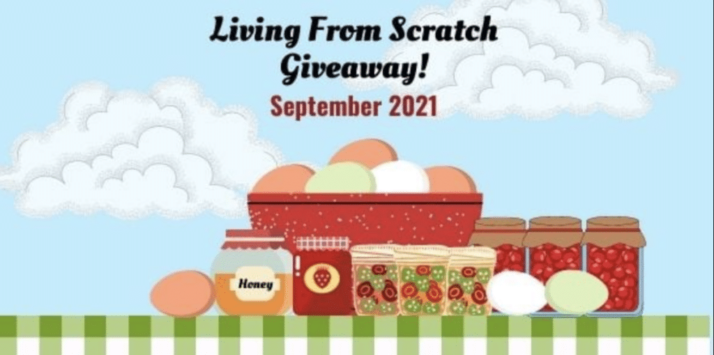 Living From Scratch Giveaway Header