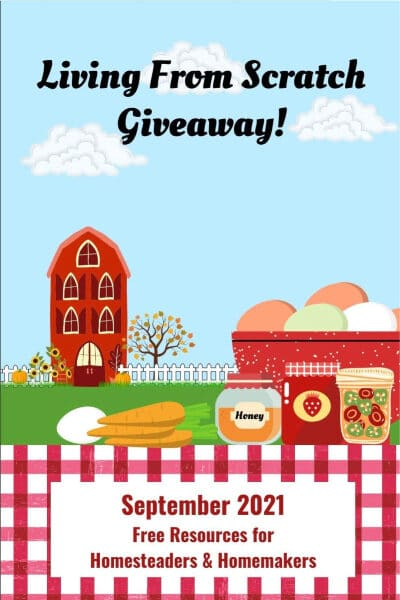 living from scratch giveaway graphic