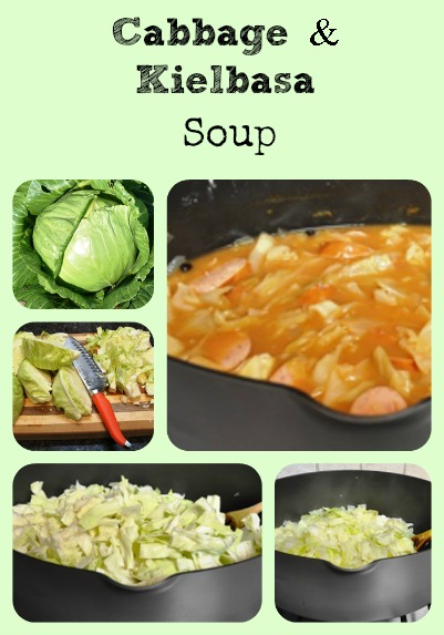 Cabbage and Kielbasa Soup via Better Hens and Gardens