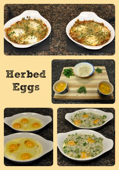 Herbed Eggs Collage via Better Hens and Gardens