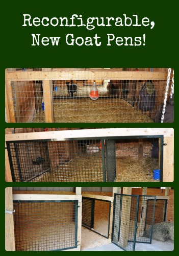 Reconfigurable New Goat Pens via Better Hens and Gardens