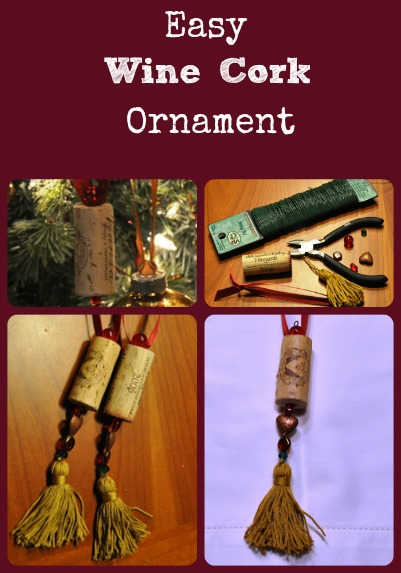Wine Cork Ornament Collage